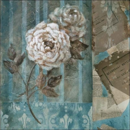 Blue Rose I by Wilder Rich Ceramic Accent & Decor Tile - OB-WR781aAT