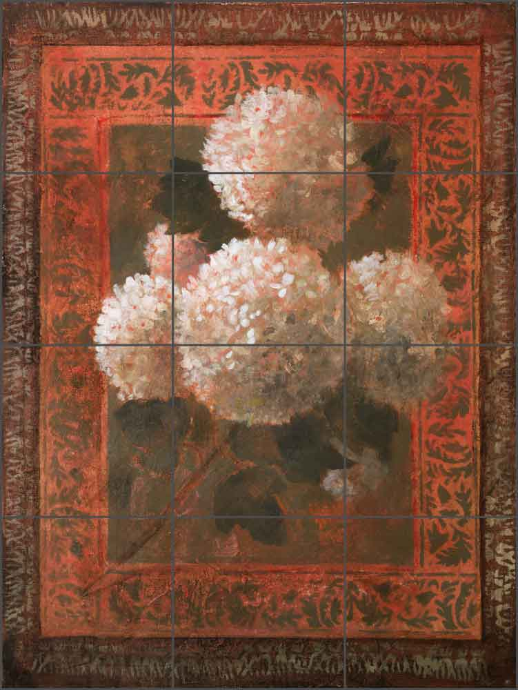 Snowball Tapestry by Wilder Rich Ceramic Tile Mural - OB-WR823
