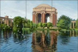 Palace of Fine Arts San Francisco #1 by Olga Kuczer Ceramic Tile Mural OKA004