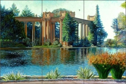 San Francisco Palace of Fine Arts #3 by Olga Kuczer Ceramic Tile Mural