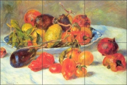 Fruits of the Midi by Pierre Auguste Renoir Ceramic Tile Mural PAR001