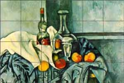 "Cezanne Peppermint Fruit Ceramic Tile Mural 25.5"" x 17"" - PC005"