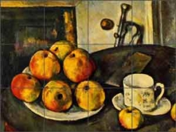 Cezanne Fruit Still Life Ceramic Tile Mural - PC006