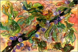 Taste of Old by Phyllis Neufeld Ceramic Tile Mural PNA011