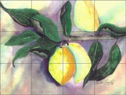 Lemondrop by Phyllis Neufeld Ceramic Tile Mural - PNA026