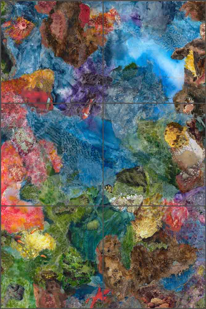 Immersed in Beauty by Phyllis Neufeld Ceramic Tile Mural PNA032