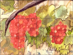 The Blessing of Grapes by Phyllis Neufeld Ceramic Tile Mural PNA037