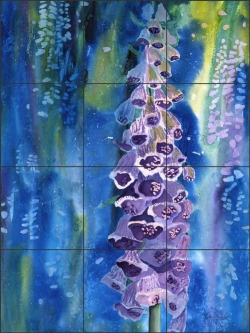 Even Tide by Phyllis Neufeld Ceramic Tile Mural PNA045