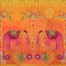 Exotic Elephants by Andrea Haase Ceramic Accent & Decor Tile POV-AH004AT