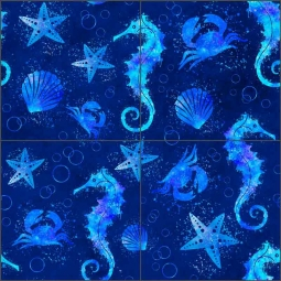 Underwater Blue Large by Andrea Haase Ceramic Tile Mural - POV-AH006