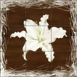 Brown Lily by Brian Cody Ceramic Tile Mural - POV-BCA010
