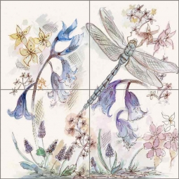 Bluebell - Square by Claire Louise Ceramic Tile Mural - POV-CH001