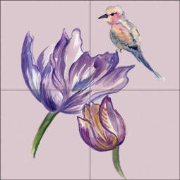 Violet Verona by Claire Louise Ceramic Tile Mural - POV-CH003