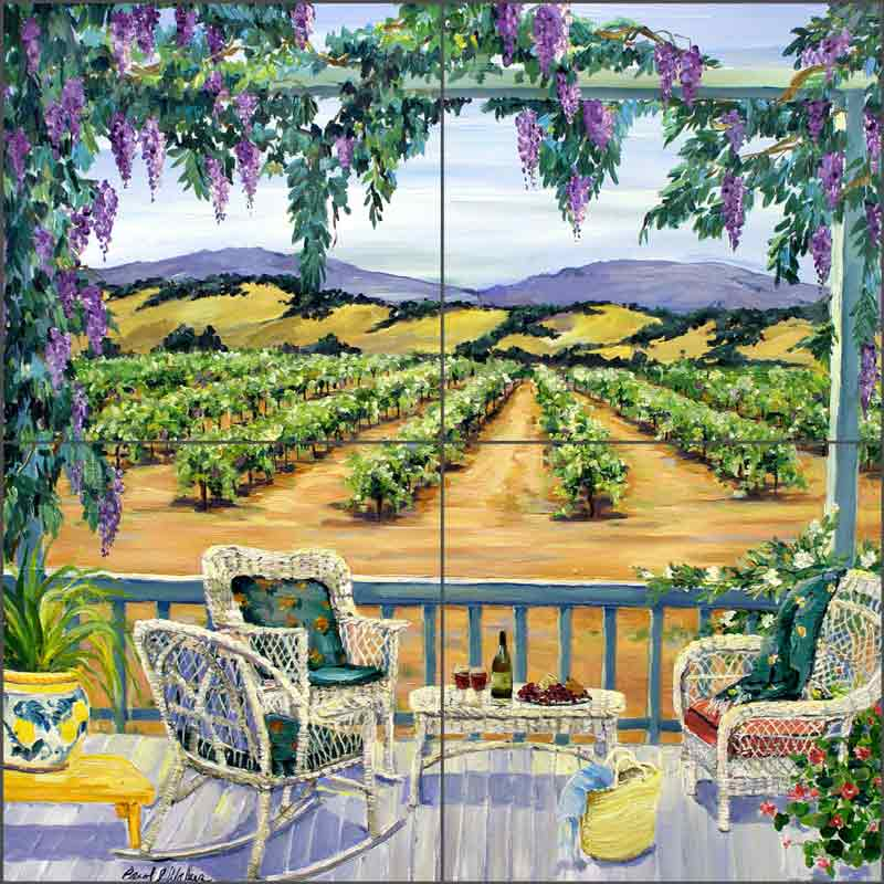 The Good Life by Carol Walker Ceramic Tile Mural POV-CWA006