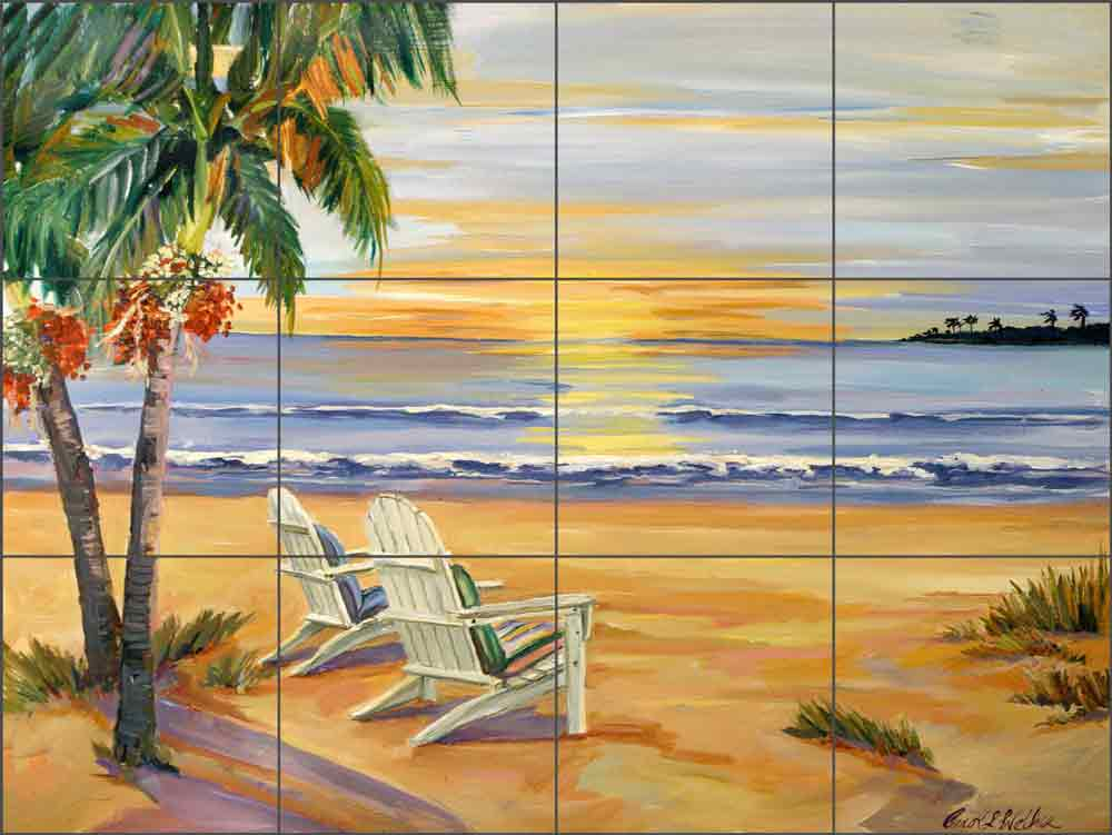 End of the Day by Carol Walker Ceramic Tile Mural POV-CWA009