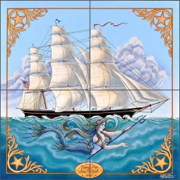 Sea Witch II by Ed Parker Ceramic Tile Mural - POV-EP001