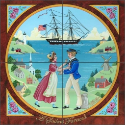 A Sailor's Farewell by Ed Parker Ceramic Tile Mural - POV-EP004