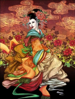 Asian Inspired 2 by Gracjana Zielinska Ceramic Accent & Decor Tile POV-GZA005AT