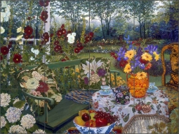 Afternoon Tea for Two by John Powell Ceramic Tile Mural - POV-JP007