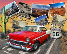 Arizona Route 66 by Jim Todd Ceramic Tile Mural - POV-JTA002