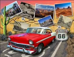 Todd Arizona Route 66 Landmark Ceramic Accent & Decor Tile - POV-JTA002AT