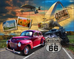 Missouri Route 66 by Jim Todd Ceramic Tile Mural - POV-JTA003