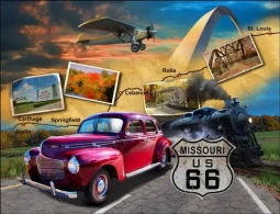 Todd Missouri Route 66 Landmark Ceramic Accent & Decor Tile - POV-JTA003AT