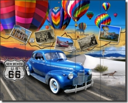"Todd New Mexico Route 66 Ceramic Tile Mural 30"" x 24"" - POV-JTA004"