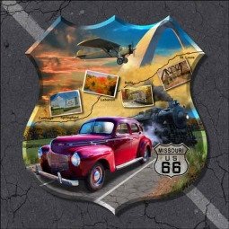 Todd Missouri Route 66  Landmark Ceramic Accent & Decor Tile - POV-JTA006AT