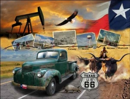 Todd Texas Route 66 Landmark Ceramic Accent & Decor Tile - POV-JTA007AT