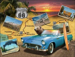 Todd California Route 66 Landmark Ceramic Accent & Decor Tile - POV-JTA014AT