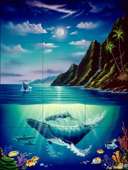 Return to Paradise by Jeff Wilkie Ceramic Tile Mural POV-JWA023