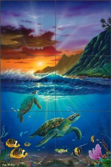 Turtle Bay by Jeff Wilkie Ceramic Tile Mural POV-JWA026