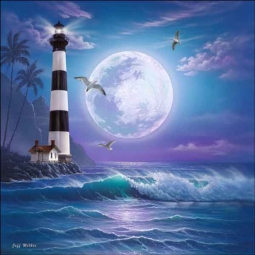 Island Dreams Lighthouse by Jeff Wilkie Ceramic Accent & Decor Tile - POV-JWA032