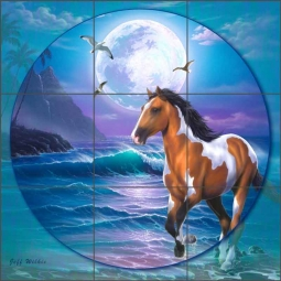 Appaloosa Dreams II by Jeff Wilkie Ceramic Tile Mural - POV-JWA042
