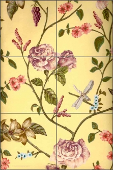English Garden by Kristina Mekjian Smith Ceramic Tile Mural - POV-KM011
