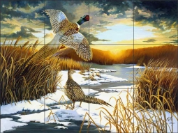 Autumn Sunrise by Lane Kendrick Ceramic Tile Mural - LKA002