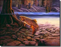 "Kendrick Trout Fish Ceramic Accent Tile  8"" x 6"" - POV-LKA010AT"