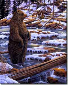 "Kendrick Wilderness Bear Ceramic Accent Tile 8"" x 10"" - POV-LKA011AT"