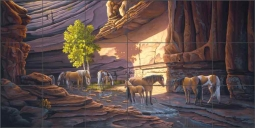 Painted Canyon by Lane Kendrick Ceramic Tile Mural POV-LKA017