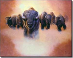 "Kendrick Animal Buffalo Ceramic Accent Tile 10"" x 8""- POV-LKA025AT"