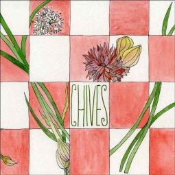 Chives by Melabee M Miller Floor Tile Accent POV-MM001AT