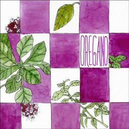 Oregano by Melabee M Miller Floor Tile Art POV-MM002ATFL