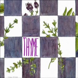 Thyme by Melabee M Miller Floor Accent Tile POV-MM004AT