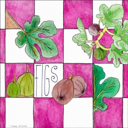 Figs by Melabee M Miller Floor Tile Art POV-MM005AT