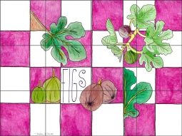 Figs by Melabee M. Miller Ceramic Tile Mural - POV-MM005