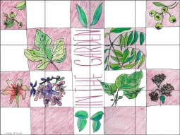 In the Garden by Melabee M. Miller Ceramic Tile Mural - POV-MM006