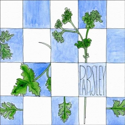 Parsley by Melabee M Miller Floor Accent Tile POV-MM008AT