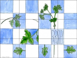 Parsley by Melabee M. Miller Ceramic Tile Mural - POV-MM008