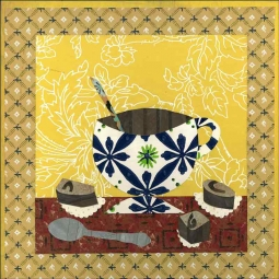 Coffee I by Ramona Jan Ceramic Accent & Decor Tile POV-RJA009AT